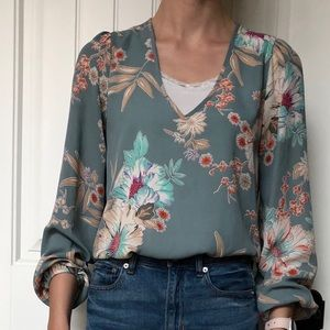 Made in USA floral blouse by Design Lab